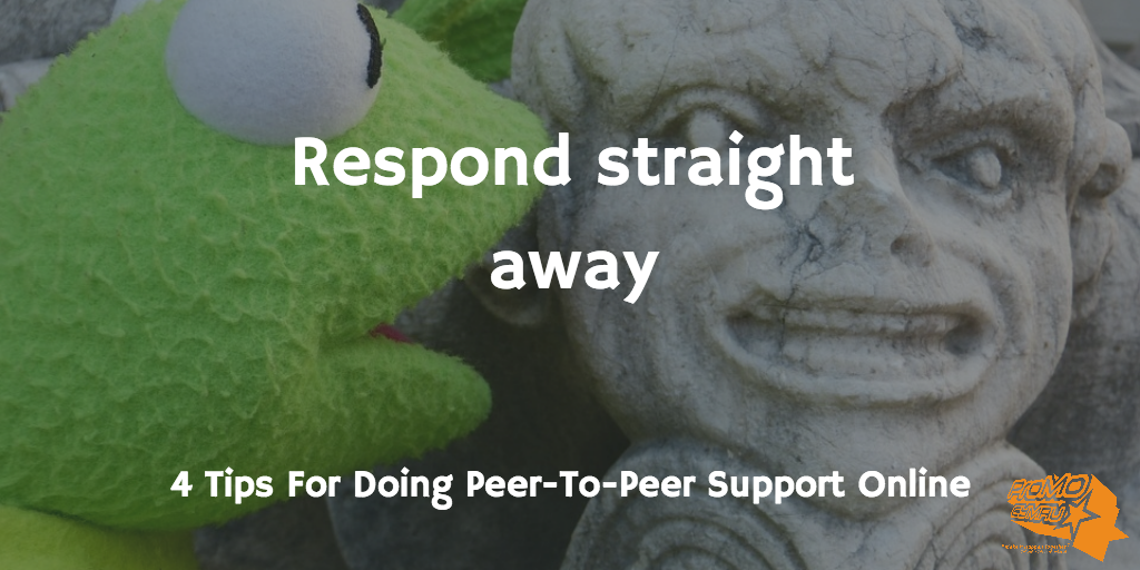 respond straight away for peer-to-peer support article