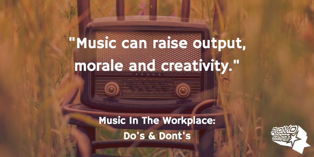 Music can raise output, morale and creativity