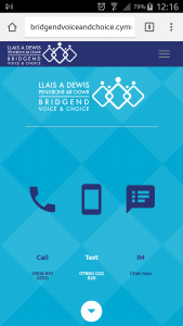 Mobile version of Bridgend voice and choice