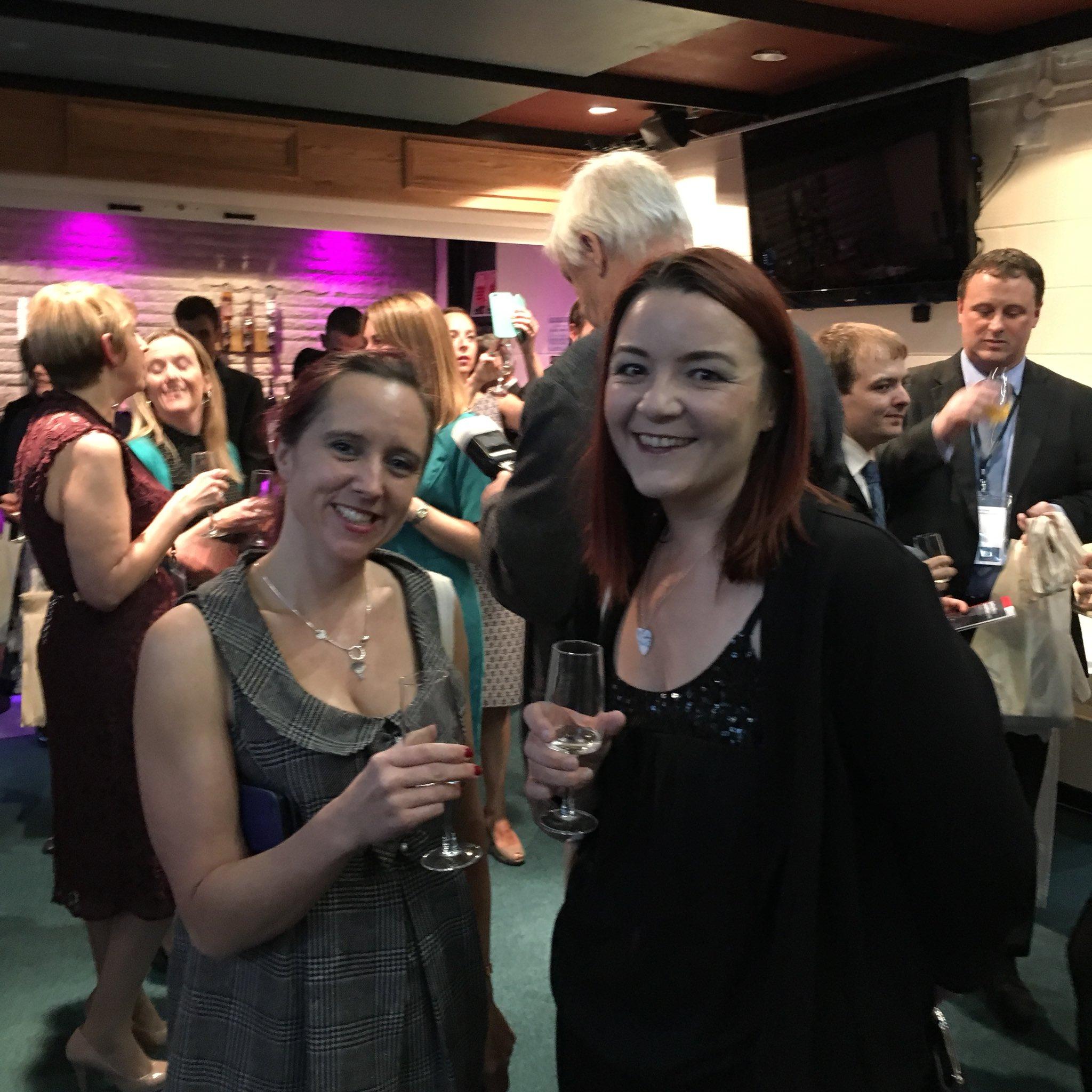 Arielle and Tania at Social Business Wales Awards