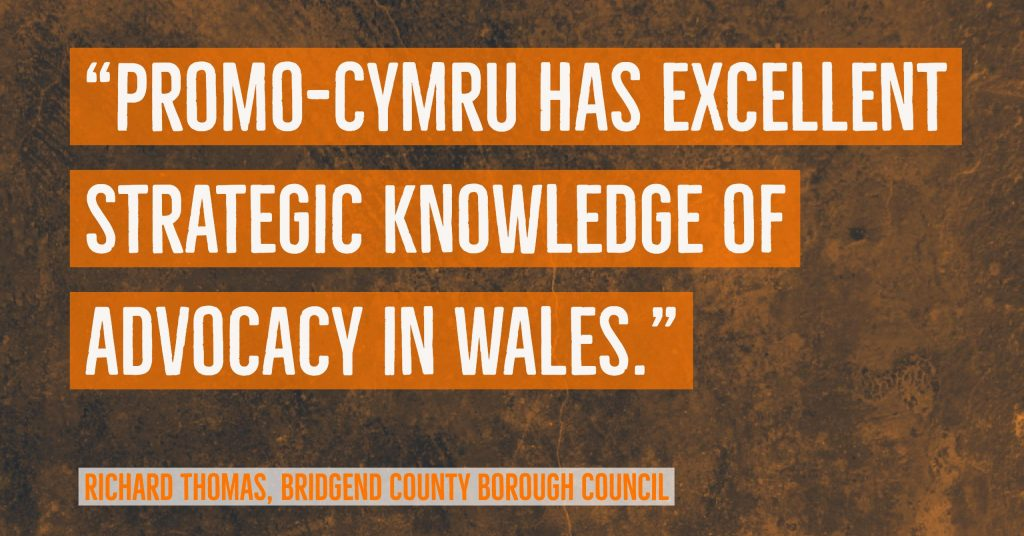 """ProMo-Cymru has excellent strategic knowledge of advocacy in Wales"" Bridgend Voice & Choice Interview"