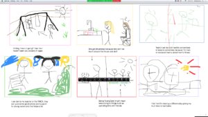 Storyboard created by young carers for their video